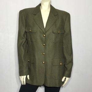 Escada Margaretha Ley Cashmere & Silk Blazer/Coat